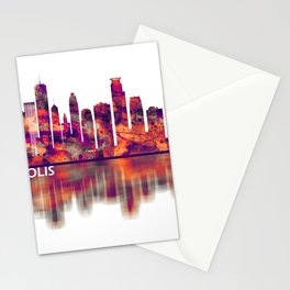 Minneapolis Minnesota Skyline Stationery Cards