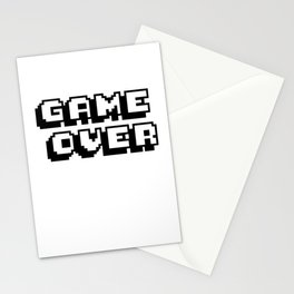 Game Over Pixel Type Stationery Cards