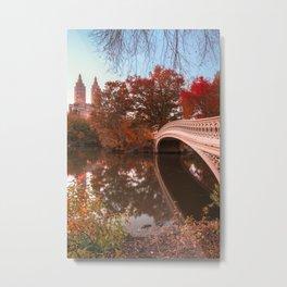 Central Park Fall Sunset Metal Print