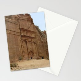 Rock Temples of Petra, facades, Jordan Stationery Cards