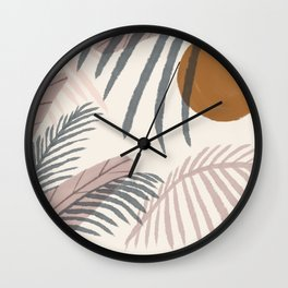 Abstract Landscape Pink Beach light Summer  Wall Clock