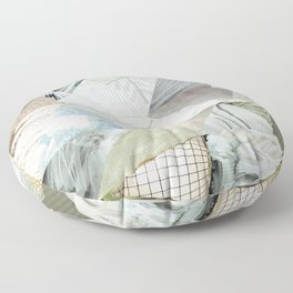 Collage - Like White on Rice Floor Pillow