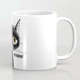 Ennui Black Cat Coffee Mug