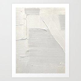 Relief [2]: an abstract, textured piece in white by Alyssa Hamilton Art Kunstdrucke