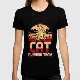 Cat running team - kittens, joggers T-shirt