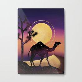 The Camel and the Joshua Tree Metal Print