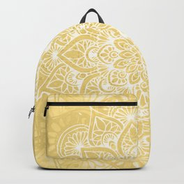 Mandala, Floral, Sun, Wall Art Boho Backpack