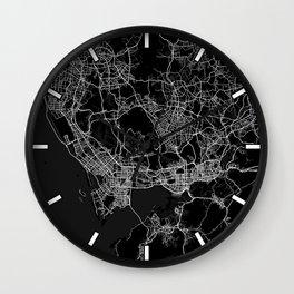 Shenzhen City Map China - Full Moon Wall Clock