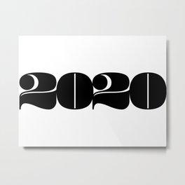 2020 Year | Typography | Horizontal Metal Print