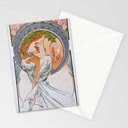 Alfons Mucha - For Art, Painting - Digital Remastered Edition Stationery Cards