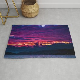 Mount Desert Island, Arcadia Maine Sunset Rug
