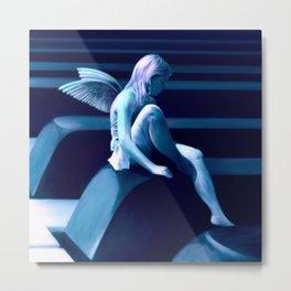 Piano Fairy - Blue Metal Print