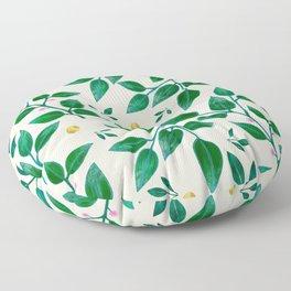 Rubber Plant Pattern Floor Pillow