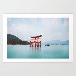 Floating Shrine of Miyajima, Japan Kunstdrucke
