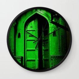 In the Dark Back Allies Secret Doorway Wall Clock