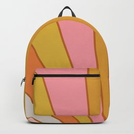 Golden Sun with Soft Colour Rays Art Backpack