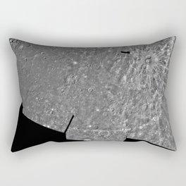 NASA PIA00067: Photomosaic of the Shakespeare Quadrangle of Mercury (Southern Half) H-3 (1996) Rectangular Pillow