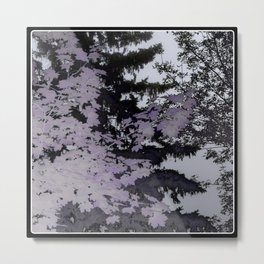 Purple Trees Landscape | Canada Metal Print