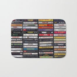 Old 80's & 90's Hip Hop Tapes Badematte