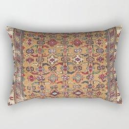 Mustard Khyrdagyd // 19th Century Colorful Dark Red Purple Southwestern Cowboy Ornate Accent Pattern Rectangular Pillow