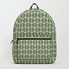 Minimalist Geometric Line Art in Modern Dill Garden Green and Beige Backpack