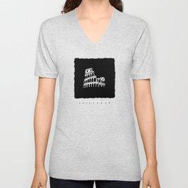 Colosseum in ink Unisex V-Neck