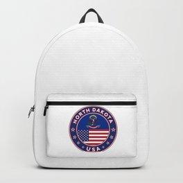 North Dakota, USA States, North Dakota t-shirt, North Dakota sticker, circle Backpack