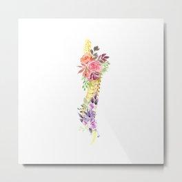 Floral Spine Anatomy  Metal Print