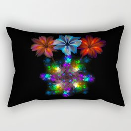 Fractal Flame Floral Arrangement Rectangular Pillow