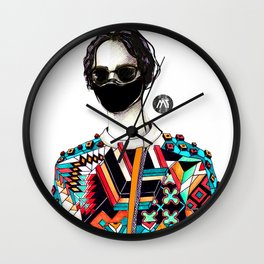 Silent Disco Wall Clock