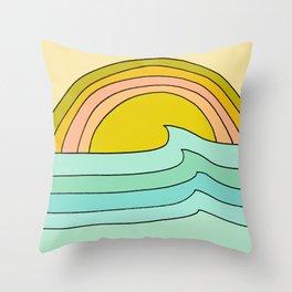 daydreams glassy swells and sunrise radiate by surfy birdy Deko-Kissen