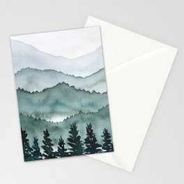 Watercolor Mountains Stationery Cards