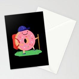 Donut Hiker National Donut Day Stationery Cards