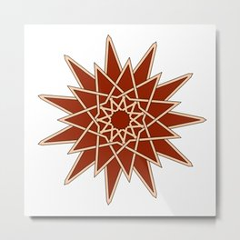arabesque star Metal Print