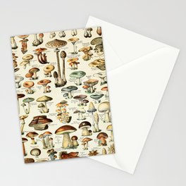 Vintage Mushroom & Fungi Chart by Adolphe Millot Stationery Cards