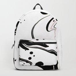 Marbled Pink and Black II Backpack