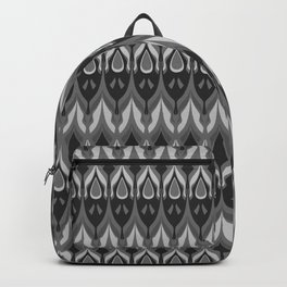 Grey ornament . Backpack