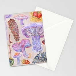 Winter Wood Blewits - Cosy Stationery Cards