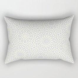 White Moroccan Tiles Pattern Rectangular Pillow