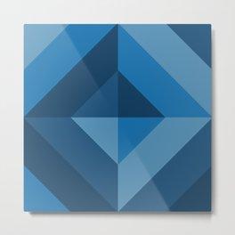 Pattern: Blue square Metal Print