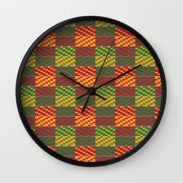 Bright Kente Cloth 4 Wall Clock