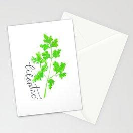 Cilantro Garden Art Stationery Cards