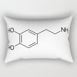 Dopamine Molecule Rectangular Pillow