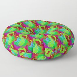 Abstract Musicnote  Floor Pillow