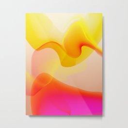 70s lava design abstract Metal Print