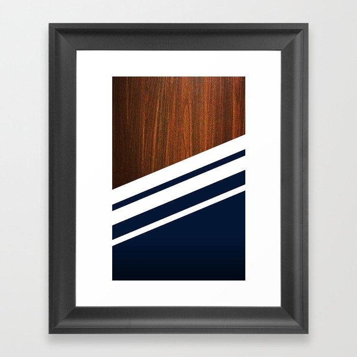 Wooden Navy Gerahmter Kunstdruck
