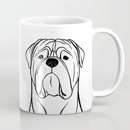 Bullmastiff (Black and White) Coffee Mug