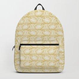 Turtles in the ocean, sandy color marine print Backpack