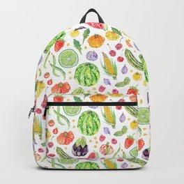 Summer Harvest Pattern White Backpack