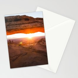 Mesa Arch Sunrise Canyonlands in Moab, Utah Stationery Cards